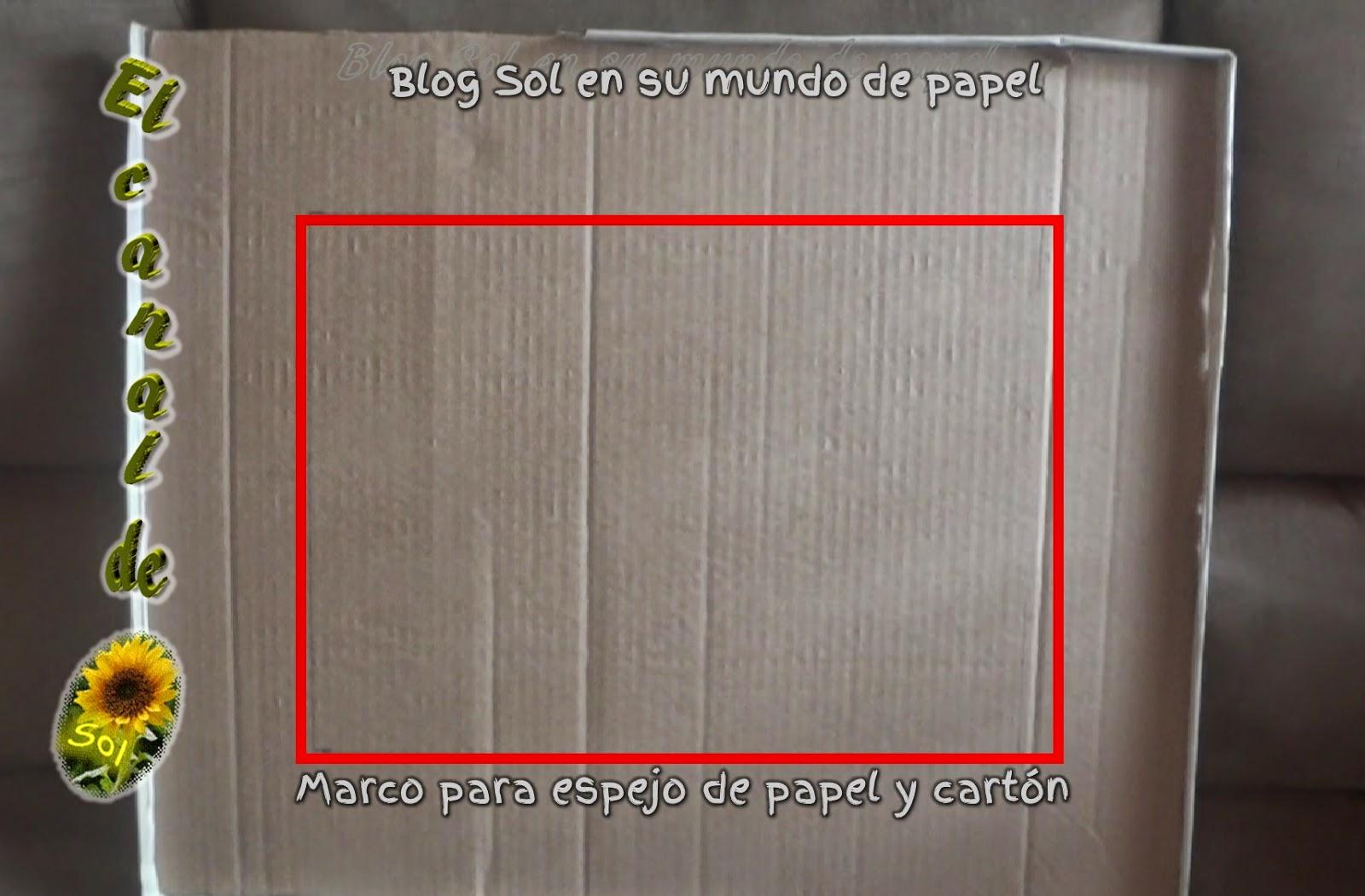 Marco para espejo de papel y cart n for Como hacer un espejo con marco de madera