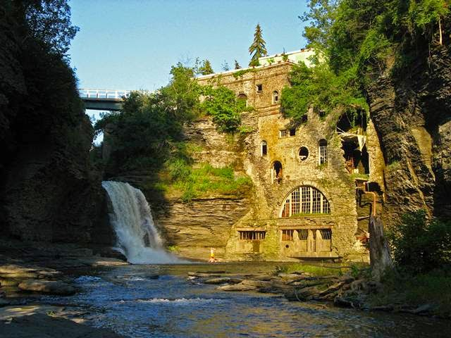 Triphammer Falls is in Ithaca on the Cornell University Campus