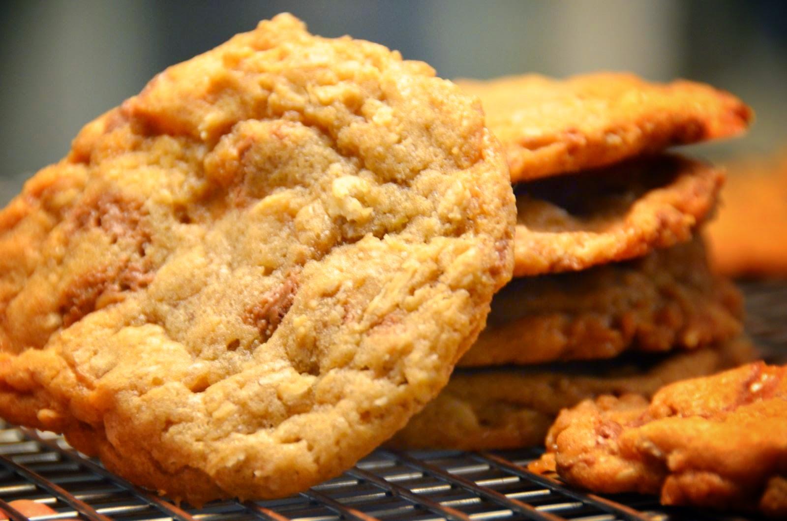 Halloween Candy Oatmeal Cookies | Cheesy Pennies
