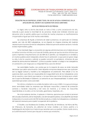 DESASTRE EN LAS EMPRESAS, SOBRE TODO, EN LAS DE AYUDA A DOMICILIO, EN LA APLICACIÓN DEL DECRETO DE