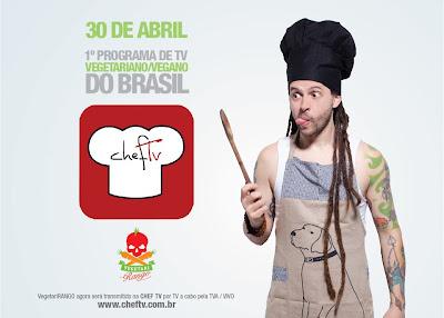 Estreia hoje o 1º programa de culinária vegana da TV brasileira