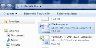 cara mengembalikan file di komputer