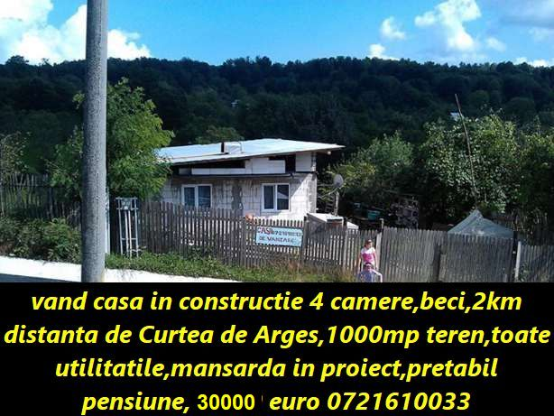 CASA IN CONSTRUCTIE DE VANZARE