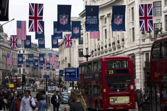 La NFL llevará tres encuentros al Reino Unido el año próximo