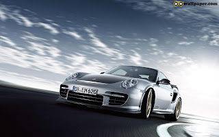 Front of Porsche  GT2RS Car