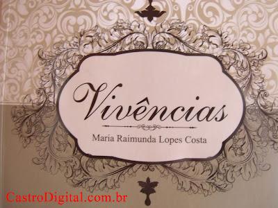 Capa do livro de poesia Vivências da escritora Maria Raimunda Lopes Costa, de Bacabal - MA