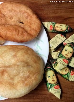 Empanadillas rusas y chocolatinas