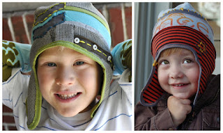 sew funky hats from Tshirt scraps