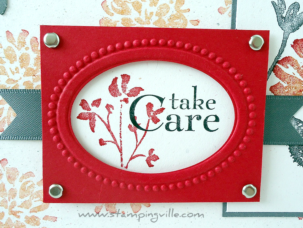 Stampingville a multi purpose greeting card oval embossed love care greeting card m4hsunfo