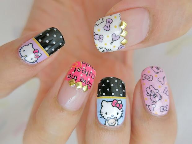 kitty nail art wrap