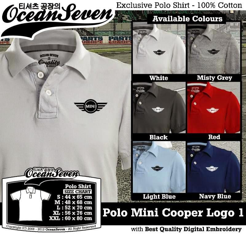 Kaos Polo Mini Cooper Logo 1