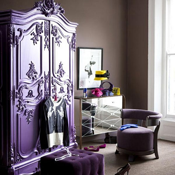 decorar con muebles antiguos-armario frances pintado-french antique wardrobe