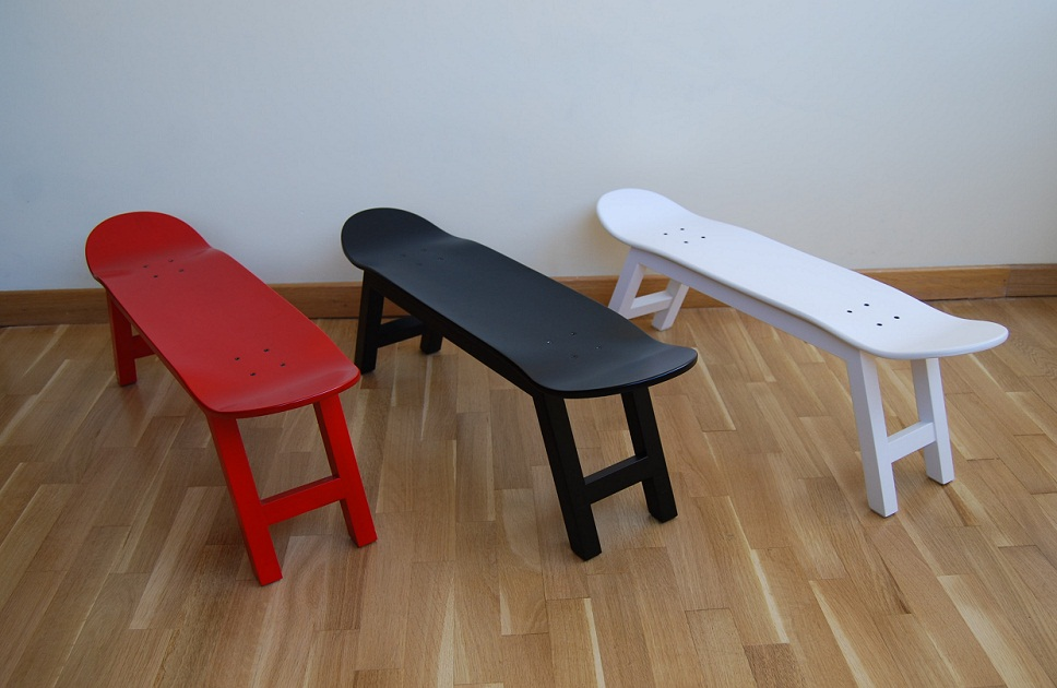 Skate Home Stools Skateboards Three Colours