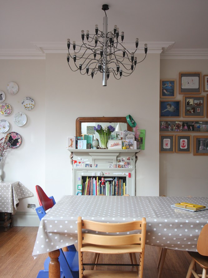 Flos Chandelier in our kitchen by alexis at www.somethingimade.co.uk