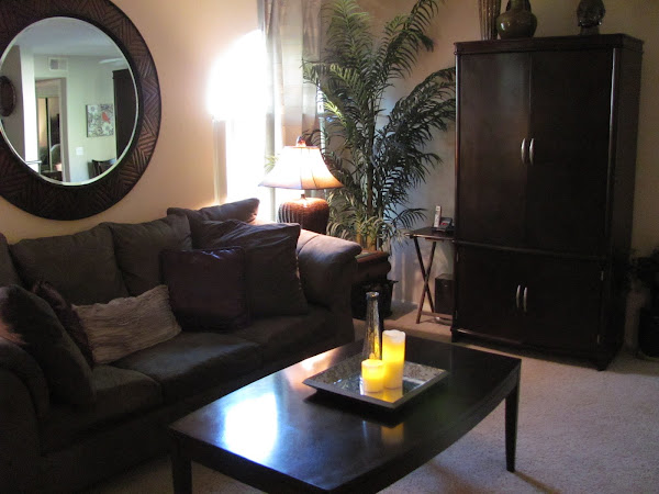 Livingroom with Entertainment Armoire