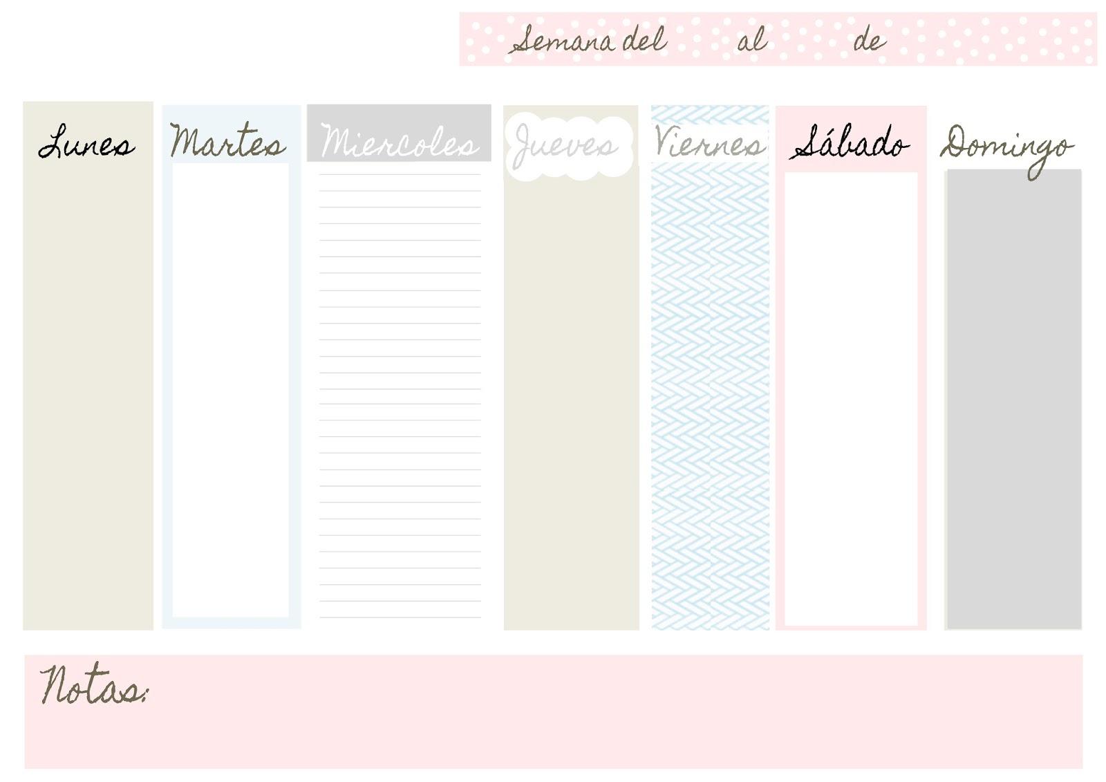 Magnífico Planificador Semanal Plantilla 2014 Ideas - Ejemplo De ...