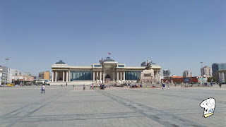 View towards the North side of Chinggis Khaan Square