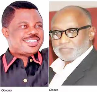 Anambra guber: What'll determine Obiano, Obaze, Nwoye, Chidoka's fate