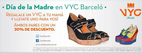 Promoción zapatos VYC Barcelo Dia de la Madre.