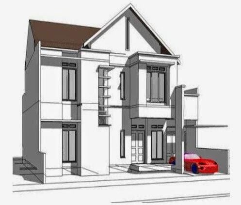 Sketsa Rumah Keren Mewah Modern 2014