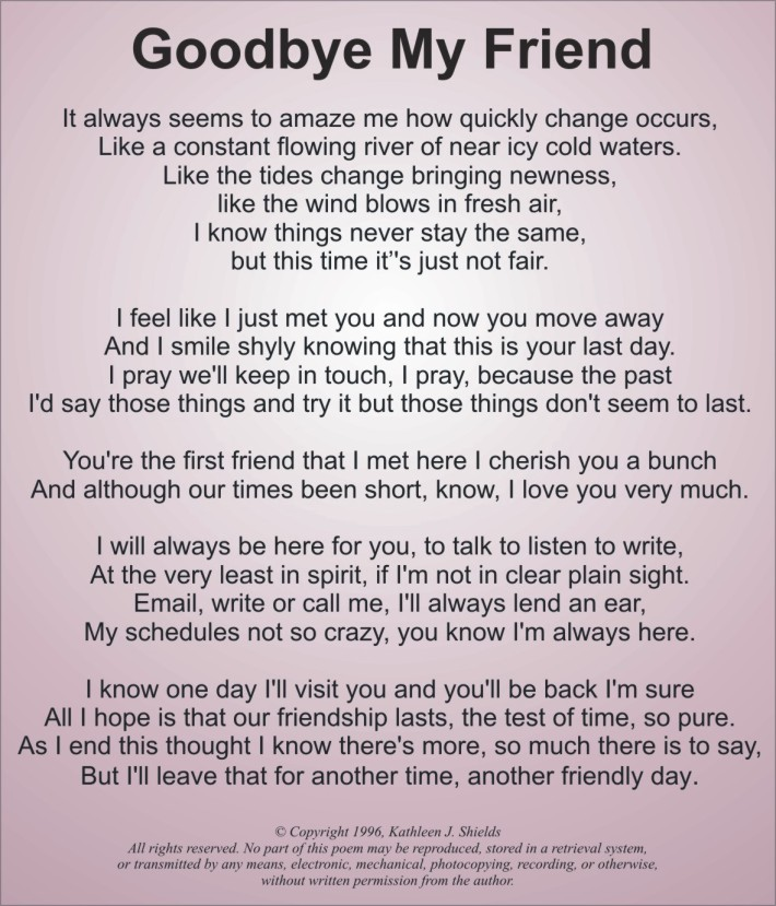 Sad Goodbye Quotes For Friends. QuotesGram