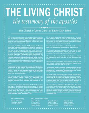 Resource image for the living christ printable