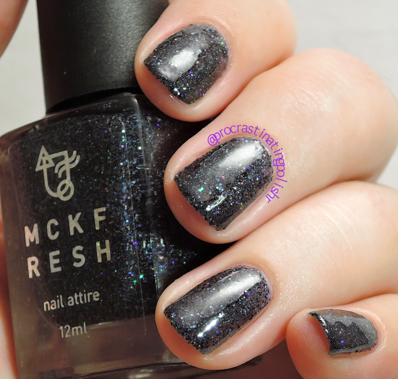 Mckfresh Nail Attire - Black Star Sapphire