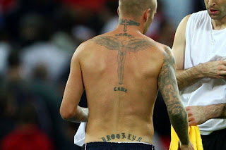 David Beckham Angel Tattoo design on Back