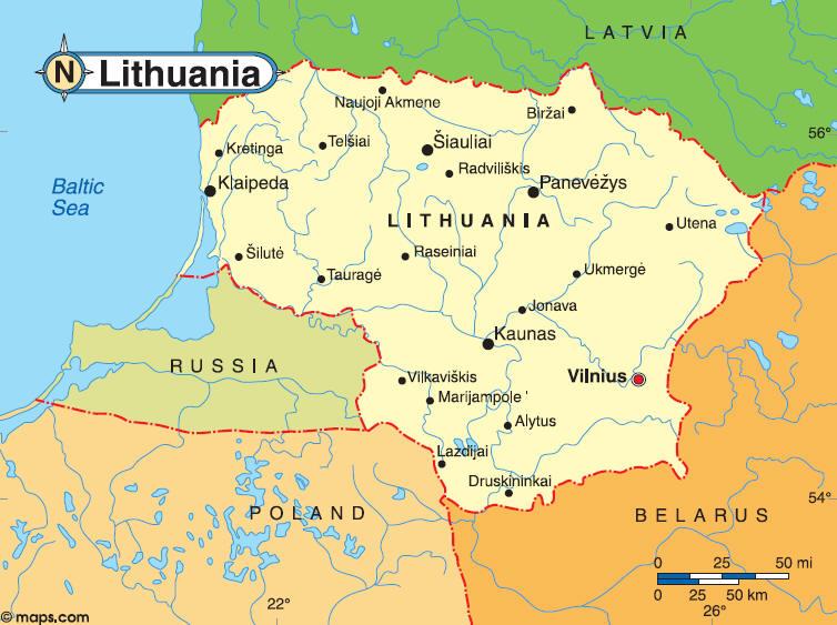 Life In Lithuania Destination Palanga - Klaipėda map