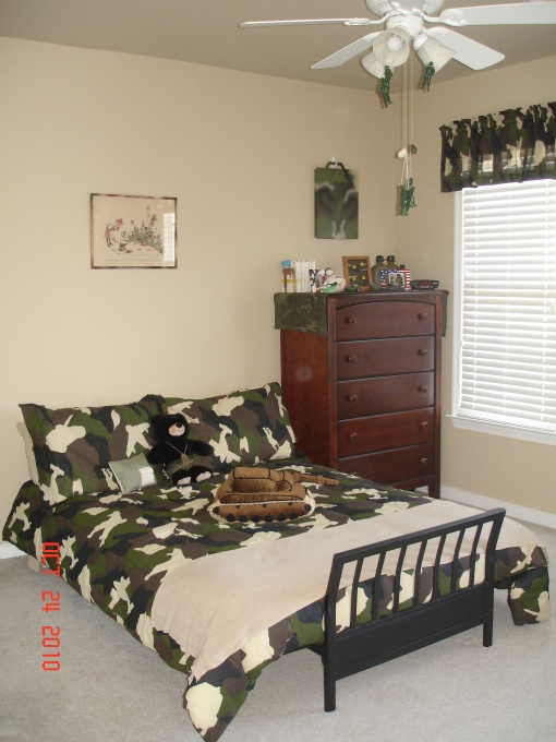 Boys camouflage bedroom ideas 5 small interior ideas for Camo bedroom ideas