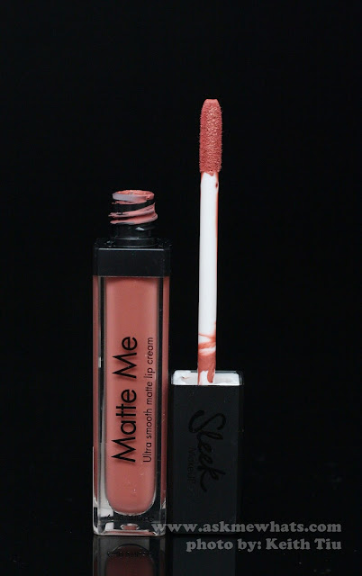 a photo of Sleek Gloss Me (Angel Falls) and Matte Me (Birthday Suit and Rioja Red)