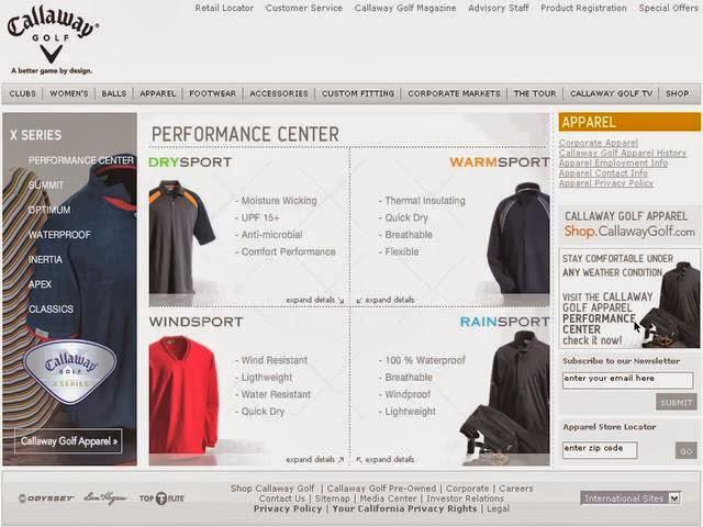 Sportmondo sports portal: Web news : Callaway Golf Apparel E ...