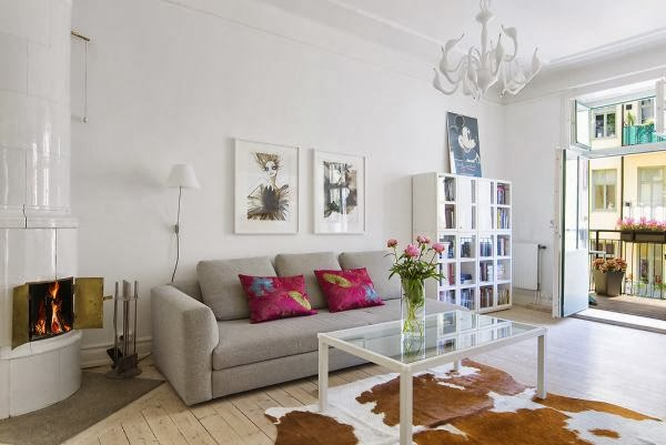 Open-Plan Apartment With A Very Fresh And Cheerful Interior - Home ...