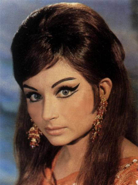 Portrait of indian movie actress sharmila tagore 1960 39 s for Old indian actress photos