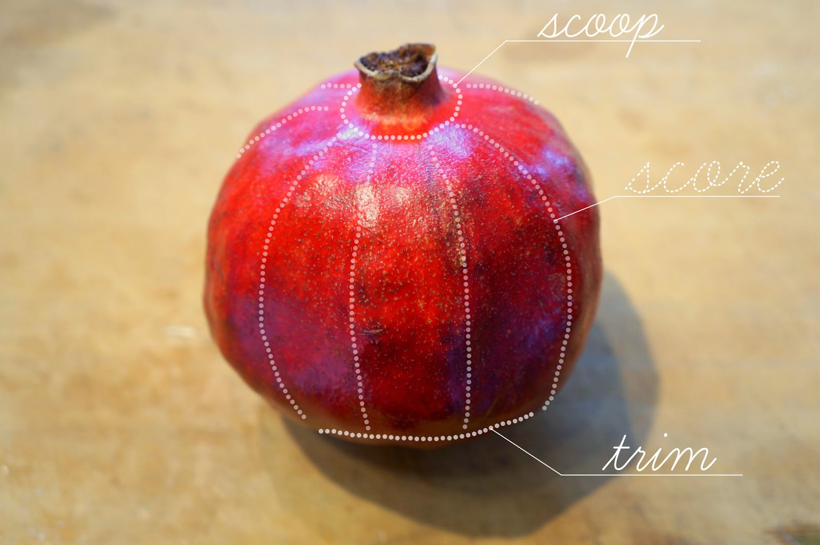 how to get the fruit out of a pomegranate