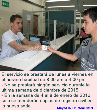 Registraduria auxiliar de Usme estará cerrada entre el 28 y el 31 de diciembre por cambio de sede