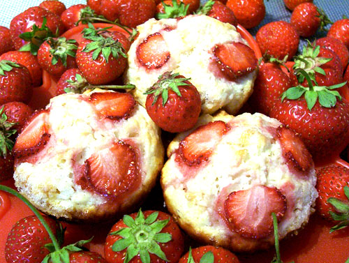 Yummy Strawberry Muffins