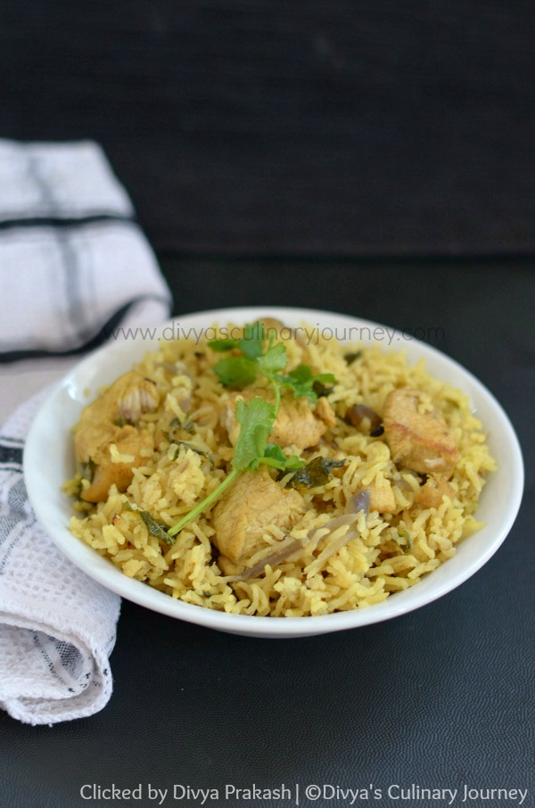 Chicken pulao recipe, Easy chicken pulao with coconut milk