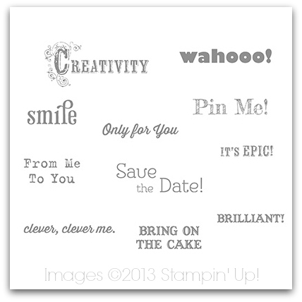 Stampin' Up! Digital Download - Inspired Words Stamp Brush Set