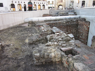Old Ruins Dig in Vienna showing layers of civilizations