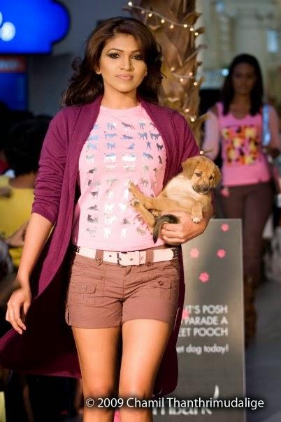 Piumi Leeniyagala Perera in shorts