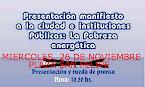 SE CAMBIA AL 26 DE NOVIEMBRE PRESENTACIÓN MANIFIESTO