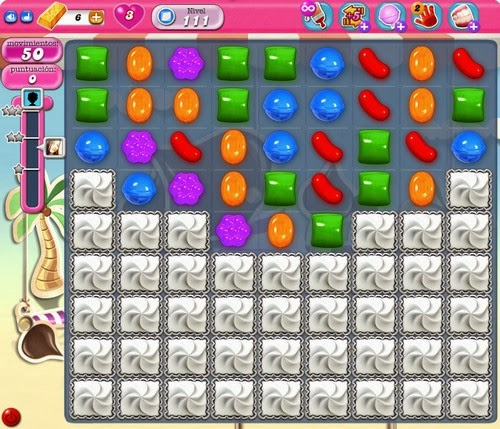 Nivel 111 de Candy Crush Saga