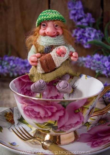Fantasy creatures ooak goblin doll