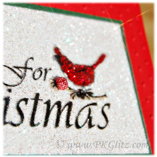 Just for Christmas, Not Just Paper and Glue, P K Glitz, Glitter, Card, Art Acetate