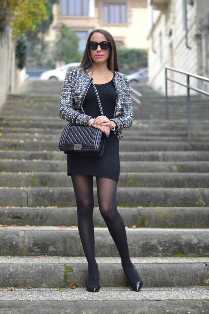 abitino nero giacca elegante