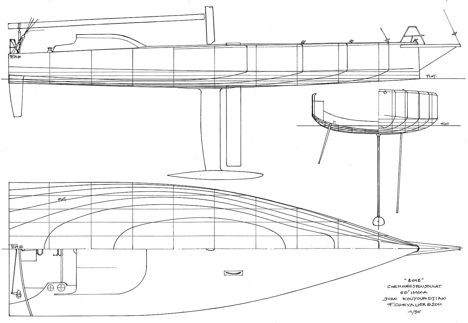 Bunpa: Detail Outrigger model boat plans