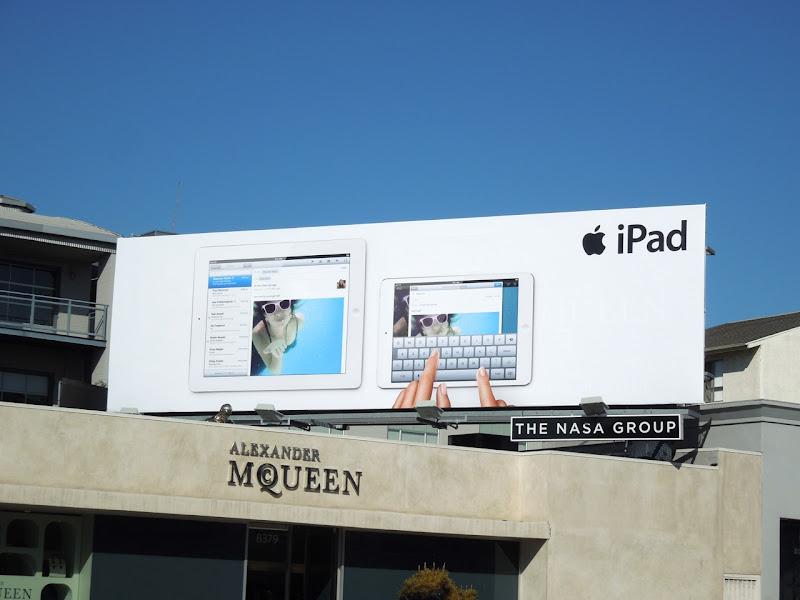 Apple iPad mini underwater email billboard