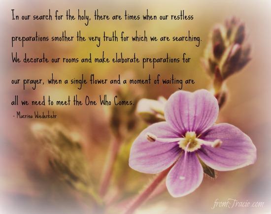 Macrina Wiederkehr quote about prayer