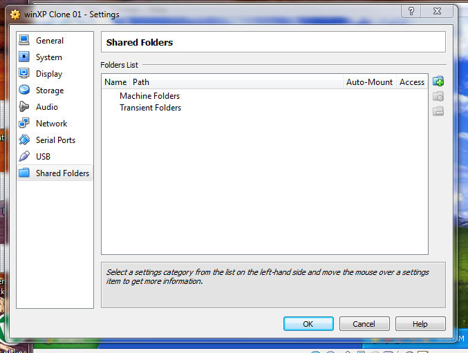 create Shared folder virtualbox